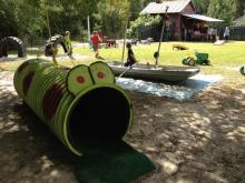 Green Level Gourd Farm in Wake County features a hay ride, playground, small corn maze and more.