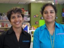 Rupali Tayal and Geetika Dagar of Ladders store in Morrisville