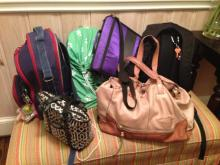 All the bags at Amanda's house
