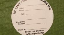 N.C. State Fair Identification Tag