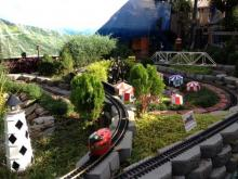 Model train display at the Flower & Garden Show