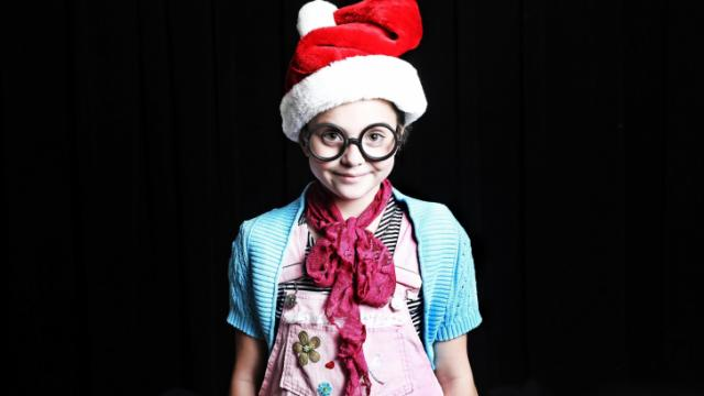 Madelyn Alger as Junie B. Jones in RLT's production of Jingle Bells, Batman Smells
