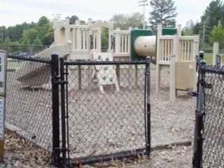 Centennial Parkr playground in Garner
