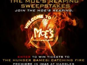 Moe's Southwest Grill offers Catching Fire tickets