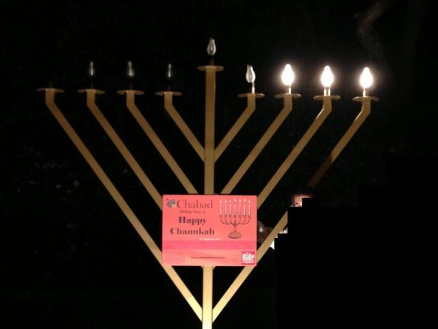 Hanukkah menorah in Apex.