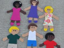 Felt dolls from Jessica Hipp Designs