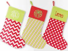 Monogrammed stockings from Little Details
