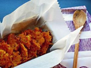 Butternut squash sweet potato latke. Courtesy: Chabad of Cary Learning Center
