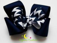 Classic navy bow from Naptime Creations