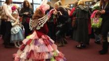 The fairy godmother greets fans at the Raleigh Little Theatre