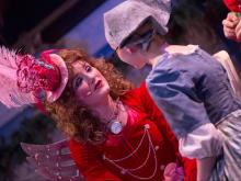 Sarah Winter as the fairy godmother in Raleigh Little Theatre's 2013 Cinderella