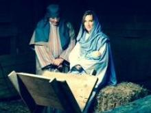 Lynda Loveland and Greg Fishel in Live Nativity