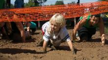 Kids and parents participate in the Big Muddy Challenge in September 2013