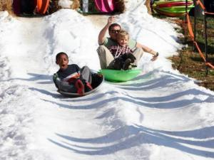 Sledding at Durham Central Park