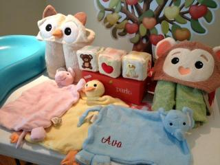 Raleigh-based Kinderstil.com features plush items made by Apple Park and the Keekaroo changing pad.