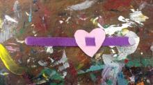 Felt Valentine's Day bracelets