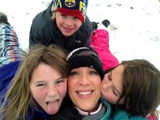 Snow day with Lynda and her kids.