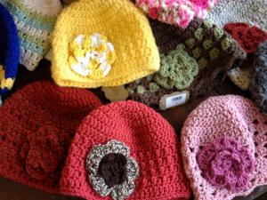 Crocheted hats at Made
