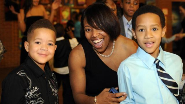 Kristian, Keri and Jaden Padgett of Wake Forest enjoy the Mother-Son Valentine Ball held at Marbles Kids Museum in Raleigh on Saturday, February 15, 2014. Photos by: Chris Adamczyk.
