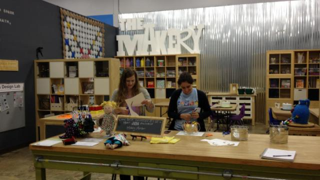 The Makery features activities and hands-on projects for kids.