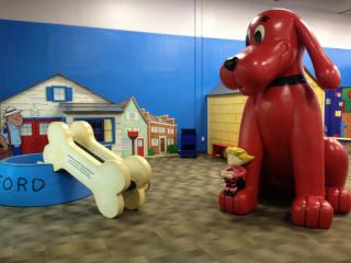 The museum features a traveling exhibit about Clifford the Big Red Dog.
