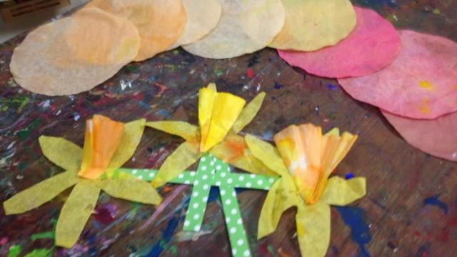 Coffee filter daffodils. Courtesy: Bull City Craft
