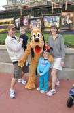 Green family at Disney
