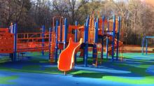 New playground at Umstead Park, Chapel Hill