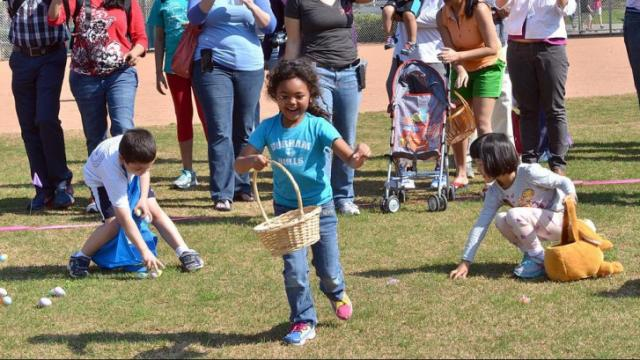 The Easter Egg Hunt and breakfast with the Easter Bunny was held at Bond Park in Cary on Saturday, April 12, 2014. Photo by Chris Adamczyk.