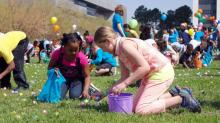 IMAGES: Hundreds scramble for eggs at Raleigh Easter