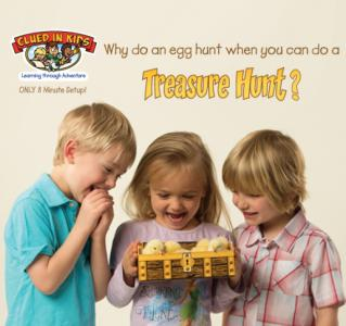 Clued in Kids creates treasure hunts for kids that are perfect for Easter.