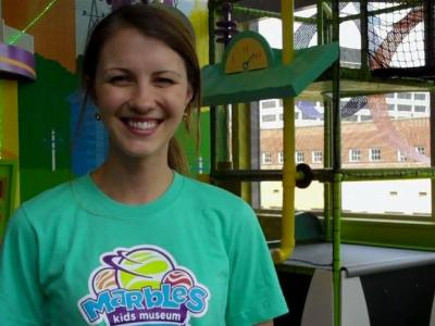 Michelle Ward of Marbles Kids Museum in the new Kid Grid