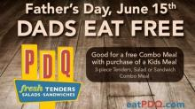 PDQ's Father's Day deal