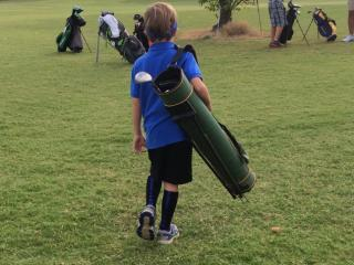Julia Sims' son has learned to play golf this summer. Sort of.