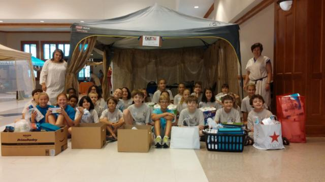 Kids at Haymount United Methodist Church in Fayetteville helped out others in their community as part of KidServe.