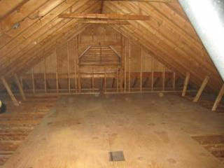 The attic after professional organizer Leah Friedman worked on it.