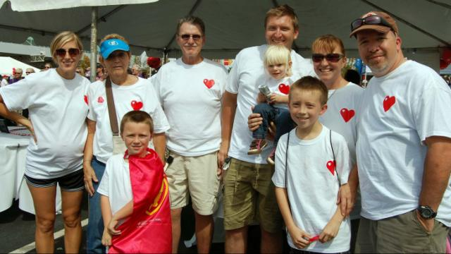 Young and old, teams and individuals participated Sunday in the Triangle Heart Walk.