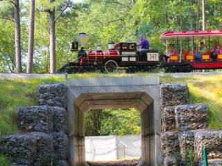 The tunnel will eventually be an entrance into the new Hideaway Woods exhibit to open this summer.