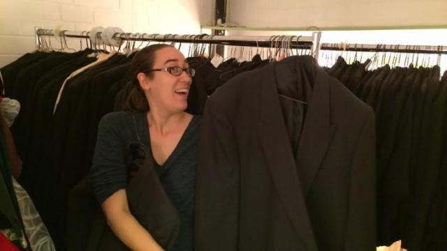 The Raleigh Little Theatre will have more than 100 tuxedos for sale at its bi-annual costume sale on Oct. 18.
