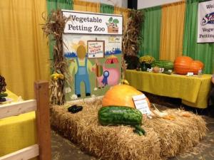 The petting zoo is inside the Exposition Building at the N.C. State Fair.