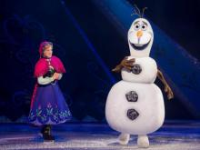 The popular ice show takes on a Frozen theme, bringing characters from the hit movie to life. Here's a sneak peak of the show.