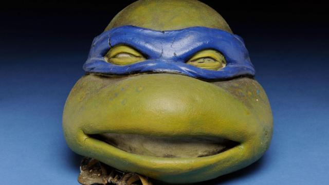 "In Starring North Carolina!, see a mask from the 1990 movie ""Teenage Mutant Ninja Turtles,"" which was filmed in North Carolina. Loan courtesy of the Cape Fear Museum of History and Science, Wilmington, N.C. Image credit: N.C. Museum of History"