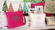 Pillows and wall art made by Belinda Lee Designs