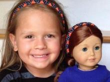 Katiebug Bows sells matching headbands for girls and their dolls