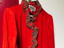 Amanda Lamb's mother's Christmas robe