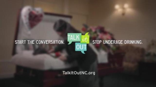 Talk It Out NC is a new campaign aimed at encouraging parents to talk to their middle schoolers and high schoolers about underage drinking.