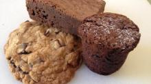Cookie, brownie and chocolate cork from Night Kitchen Bakehouse & Cafe