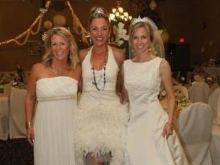 Raleigh Mom Prom organizers Jen Kheebler and Rebekah Anderson and founder Stephanie Armstrong pose at the 2014 event.