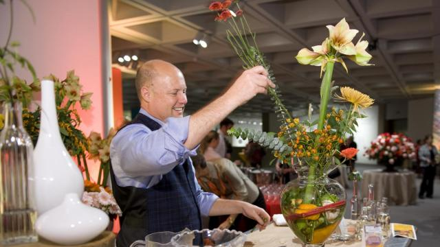 Guests to the museum's Still Life members opening were invited to make their own still-life inspired floral arrangements, courtesy of the staff of the Watered Garden.