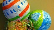 IMAGES: Easter Crafts: String eggs, salted eggs, blown up eggs, more